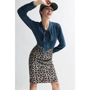Anthropologie Maeve Leopard Print Pencil Skirt